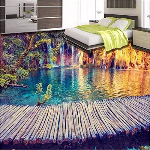 Ytdzsw Benutzerdefinierte Großformatige Wandbilder Hd 3D Im Freien Schöne Bodenfliesen Boden Verdickung Wasserdicht Pvc Verschleißfesten Film-140X100Cm