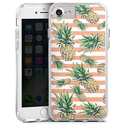 Apple iPhone 6 Bumper Hülle Bumper Case Glitzer Hülle Pineapple Ananas Fruits Bumper Case transparent