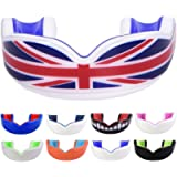 Oral Mart Sports Gum Shield for Kids/Adults (UK Flag & Vampire Fangs & 13 Best Colors) - Sports Mouth Guard for Rugby…