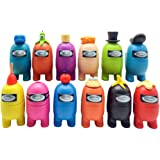 CaCaCook Among US juguete, 12 piezas Mini Cute Game Figure Collection Toys, muñecas extraíbles, decoración de mesa, regalos p