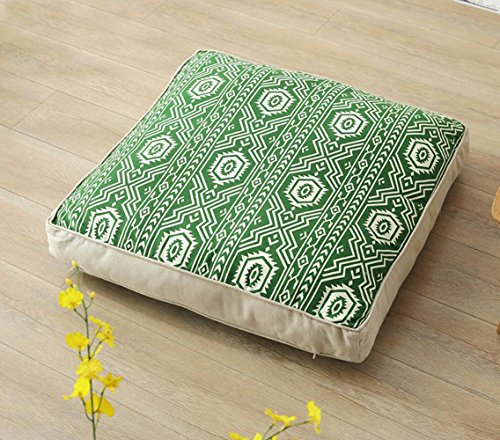 Dicke futon Yoga Matte Kissen Tatami-matten Meditation pad Balkon drift Dichtung 65 * 65 cm, grün Yoga-futon