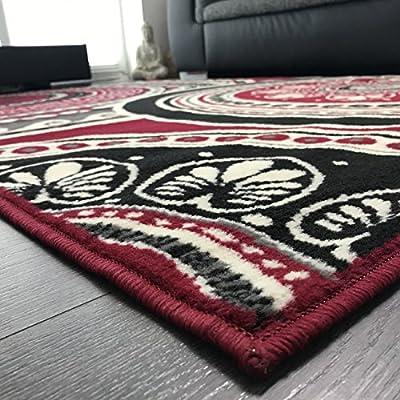 Kurzflor Teppich mit Muster für Wohnzimmer