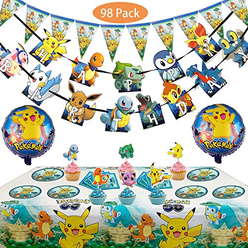 Magichui Pokemon Kids Birthday Party Decoration -