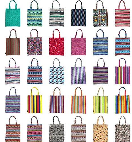 HFjingjing Umweltfreundlich wiederverwendbar mehrfarbige Bohemia Canvas Tote Bag Lunch Einkaufen Taschen Beach Bag