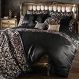 Kylie Minogue Lazzaro - Funda nórdica para cama de matrimonio, color negro