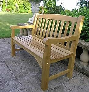 solid oak garden bench 4ft 2 seater sale