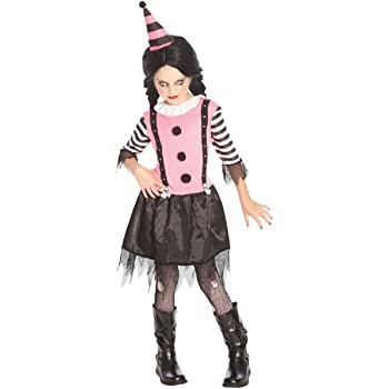 Oider Teenage Girls Pink Killer Scary Zombie Clown Halloween