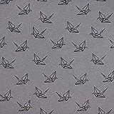 Fabulous Fabrics Mono Flock Print Origami GOTS –