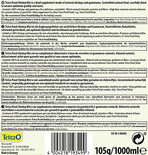 Tetra Pond Shrimp Mix Ergänzungsfutter (Leckerbissen für Teichfische aus natürlichen Shrimps und Gammarus, schwimmfähige Futtermischung), 1 Liter Dose - 6