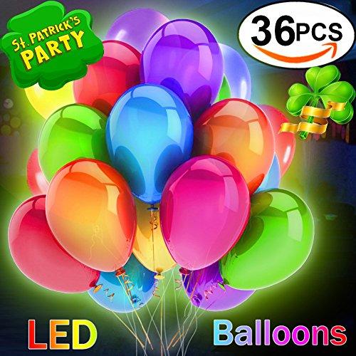 36 PCS Globos LED Luminoso Balloon con Lluminacin Glow Globos de