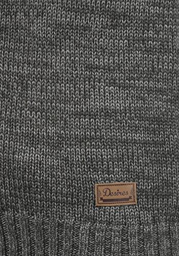 DESIRES Phenix Damen Strickjacke Grobstrick Cardigan Strickcardigan mit Reißverschluss Und Stehkragen Aus 100% Baumwolle, Größe:XS, Farbe:Dark Grey (2890) - 5