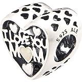 تعليقة احبك امي للنساء من باندورا - 792067EN23، فضة استرلينية