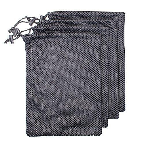 Nylonnetz-Tasche, 4-Pack-Netz-Speicher-Material Ditty Drawstring-Beutel-Taschen für Turnhalle, Reise -
