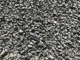 Marmorkies schwarz, Zierkies, gebrochen 8-12mm 25kg Sack, Gartenkies Anthrazit