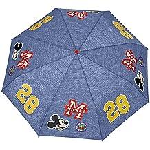 Paraguas Minnie / Mickey Perletti – Paraguas para niñas / niños plegable – Paraguas para niñas/niños de Disney – Apertura manual – 89 cm de diámetro