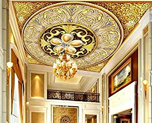 Buy Nostalagia Large 3D Ceiling Murals Fabric Wallpaper ...