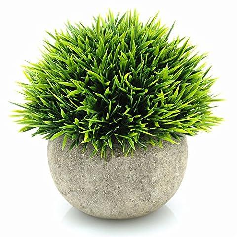 Yocome Artificial Faux Faux Mini Plastique Herbe verte de plantes