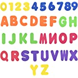 NATUCE 36PCS Juguetes para el Baño - Letras y Números, Juguetes de Baño para Bebé Niños, Juguetes Bañera Bebe, Kit de Juguete