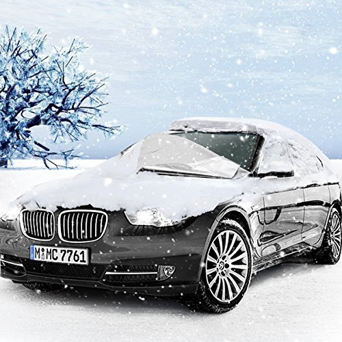 Windscreen Cover, MTURE Snow Cover Sun Shade Protector, Dust Frost Screen Cover Wind Proof Ice Protector, All Weather Fits Cars, SUVs Windshields - Sliver