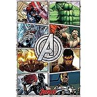 The Avengers Póster gigante del cómic Los Vengadores, madera, multicolor