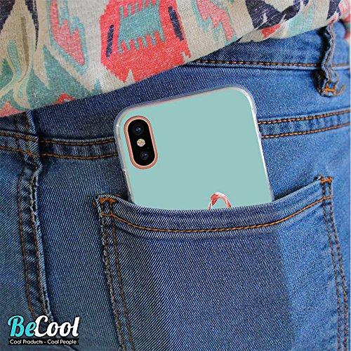 BeCool®- Coque Etui Housse en GEL Flex Silicone TPU Iphone 8, Carcasse TPU fabriquée avec la meilleure Silicone, protège et s'adapte a la perfection a ton Smartphone et avec notre design exclusif. Mét D1079