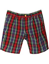 Gant Rugger Hommes Shorts Rouge/Bleu R. Oxford Foxhunt Shorts 21370-620