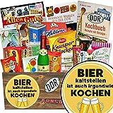 Bier kalt stellen ist auch irgendwie kochen | Ostpaket | mit Puffreis Schokolade, Butterkeks Original Wittenberger und mehr | GRATIS Aufkleber - Bier kalt stellen ist auch irgendwie kochen