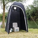 Mobiles Toilettenzelt oder Duschzelt ideal für den Campingurlaub, Strand und Garten • Aufbewahrung Camping Toilette Zelt Dusche Beistellzelt