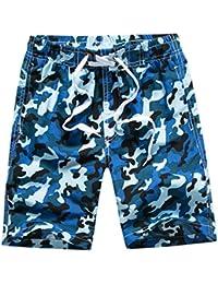 Echinodon Jungen Badehose Badeshorts Camouflage Sweatshorts Urlaub Strand Shorts