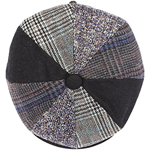 Sakkas Jay Gatsby 8 Pannello di lana dello strillone Paperboy Cap Hat Brim Snap