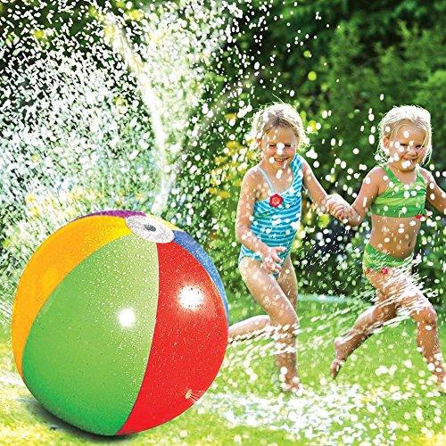 AOLVO Splash und Spray Ball, Beach Ball Sprinkler Spielzeug aufblasbar Wasser Spray Ball Spaß Outdoor Spielzeug für Hot Sommer Schwimmen Party Beach Pool Spielen