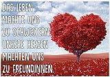 Puzzle-Botschaft eckig ~ Das Leben machte uns zu Schwestern - Herz/Baum ~ 120 Teile 27x18cm inkl. Geschenk-Beutel ~ WB wohn trends®