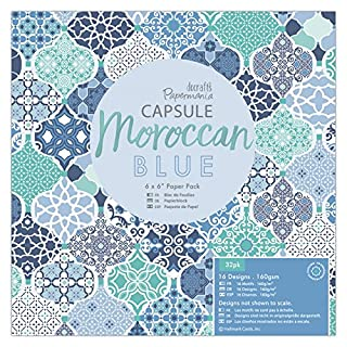 Papermania Capsule Pack of 32 Pack, Paper, Blue, 16.3 x 19.2 x 0.8 cm