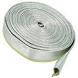 1m Alu Hitzeschutzschlauch 12mm Aluminium Fiberglas Kabelschutz Thermo Schlauch