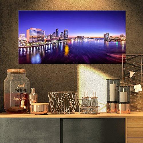Art-design Designart Jacksonville Florida City Cityscape Leinwanddruck 32x16
