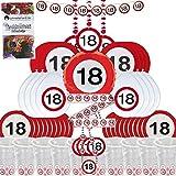 Partybox 18 Geburtstag 58-teilig Deko Verkehrsschild Partypaket