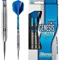 Harrows Genesis Darts Set - Steel Tip Tungsten - Style A 25g - FREE Darts Corner Checkout Card
