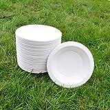 Sugarcane Bowl 18cm 450ml (50pack) BIOPAC Round Natural Alternative For Plastic P109 (50)
