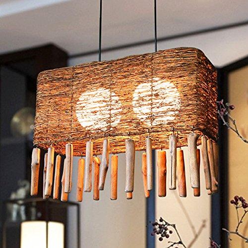 Suspensions Restaurant créatif lustre personnalité Cafe salle ferme thé en Asie du sud-est Zhuang Teng fait l'atmosphère léger lustre Zen