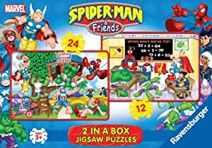 Ravensburger - 12 & 24 piece Spiderman Jigsaw Puzzles