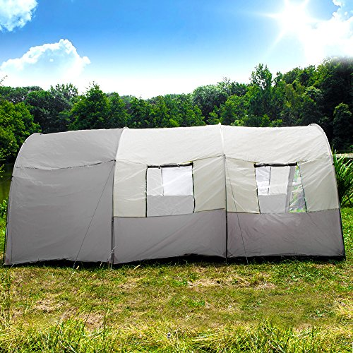 TecTake C&ing tent 3000 mm hydrostatic head ... & TecTake Camping tent 3000 mm hydrostatic head tunnel with foyer 4 ...