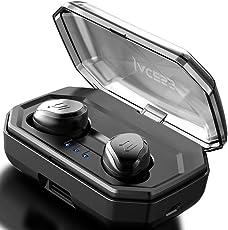 【Geavanceerde versie】 TWS Sport Bluetooth V5.0 Wireless Kopfhörer 3000mAh für 90-stündige Spiel IPX6 Absolut Wasserdicht Praktisches Touchpanel Kabellose Lautstärkeregelung Automatische Verbindung Automatisch ein / aus AAC Siri Funktion Earphones Mit Eingebautem Mikrofon In Ear Kopfhörer Black