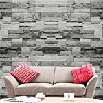 Hyfive® 3D Wallpaper Efecto ladrillo ladrillo Gris Natural Piedra Wallpaper 10m x 0,53 m