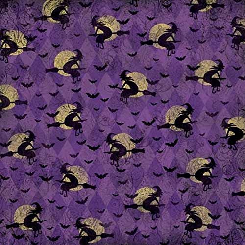 Unbekannt Karen Foster Scrapbooking-Papier Die Hexen-Stunde violett