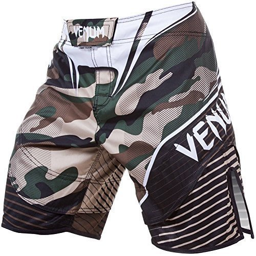 """Venum Fight Shorts &quotHero"""" - Camouflage - Fight Shorts,MMA Shorts BJJ Grappling Freefight Shorts (XL)"""