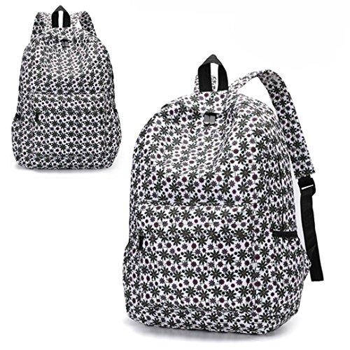 Frischer Stil Frauen Rucksäcke Blumendruck Bookbags Female Damen Reiserucksack Reise Rucksack Backpack B