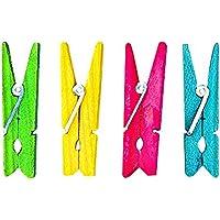 Rayher ESPACE BEAUX ARTS Lot de 48 mini pinces à linge couleurs assorties en bois 2.5cm