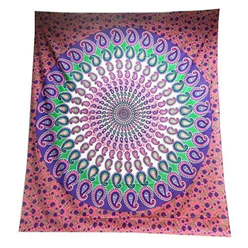 copriletto-paisley-mandala-viola-rosa-coperta-indiana