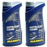 2 Liter Outboard Marine Motoröl 2-Takt Außenborder wassergekühlt