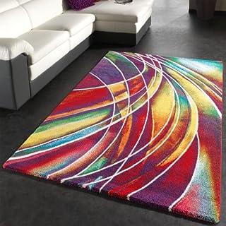 PHC Teppich Modern Designer Teppich Bunter Farbmix Gemustert Mehrfarbig,  Grösse:120x170 Cm